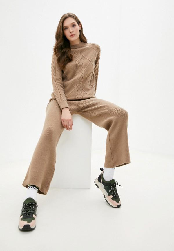 женский костюм moda sincera, бежевый