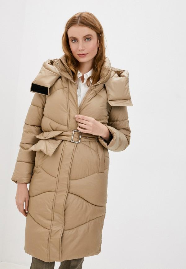 женская куртка moda sincera, коричневая
