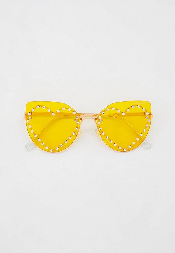 солнцезащитные очки monnalisa для девочки, золотые