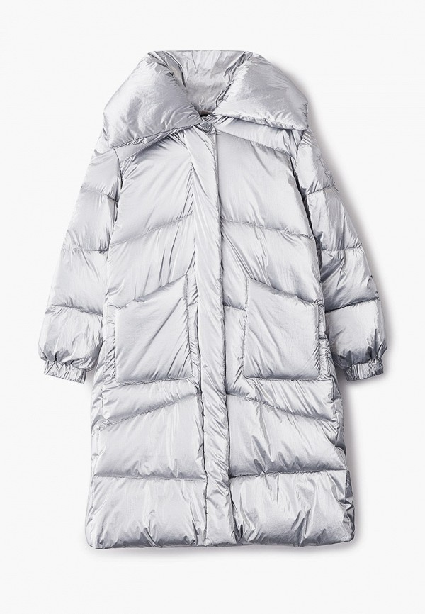 куртка monnalisa для девочки, серебряная