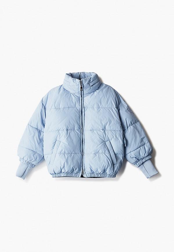 куртка monnalisa для девочки, голубая