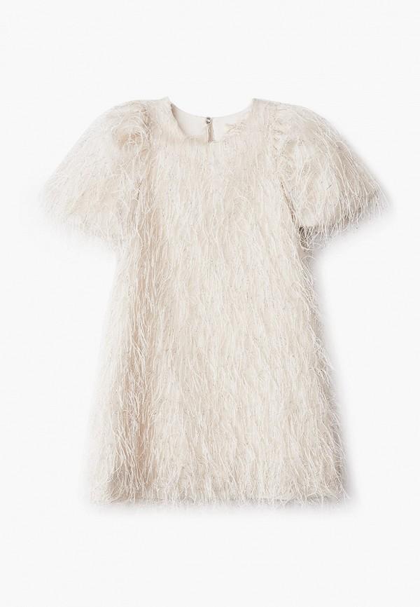 платье monnalisa для девочки, бежевое