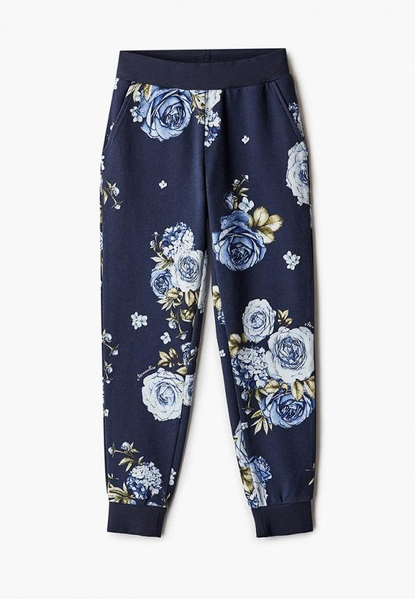 спортивные брюки monnalisa для девочки, синие
