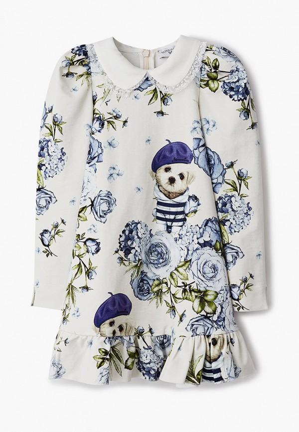 повседневные платье monnalisa для девочки, белое