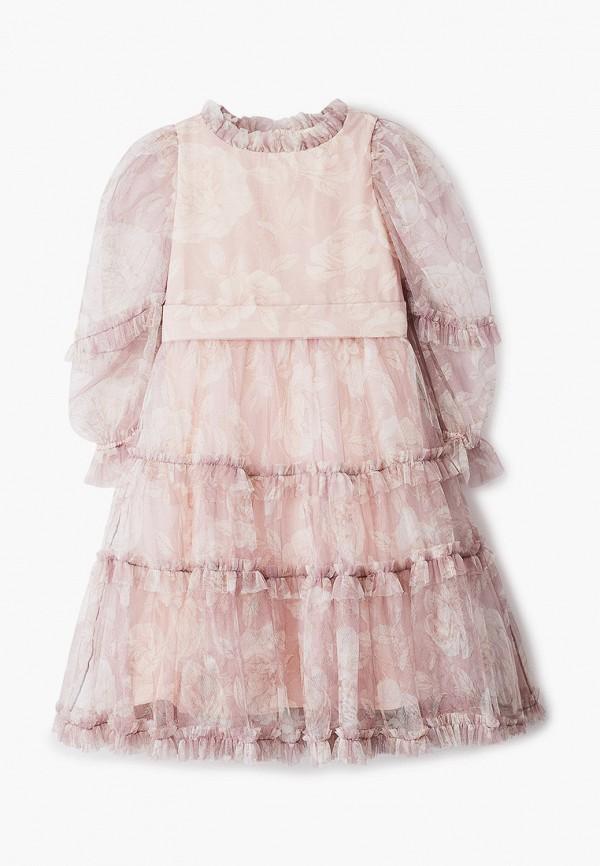 платье monnalisa для девочки, розовое
