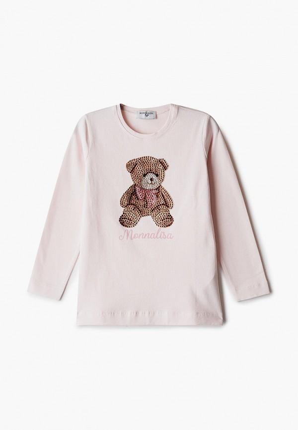 лонгслив monnalisa для девочки, розовый