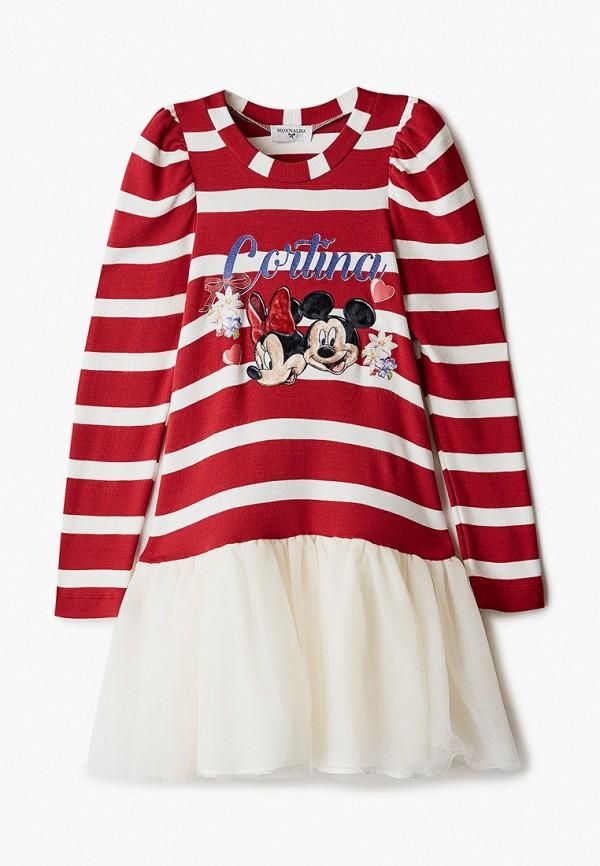 повседневные платье monnalisa для девочки, красное