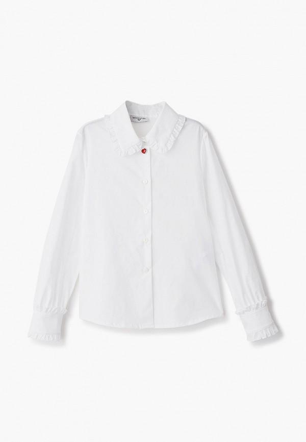 блузка monnalisa для девочки, белая