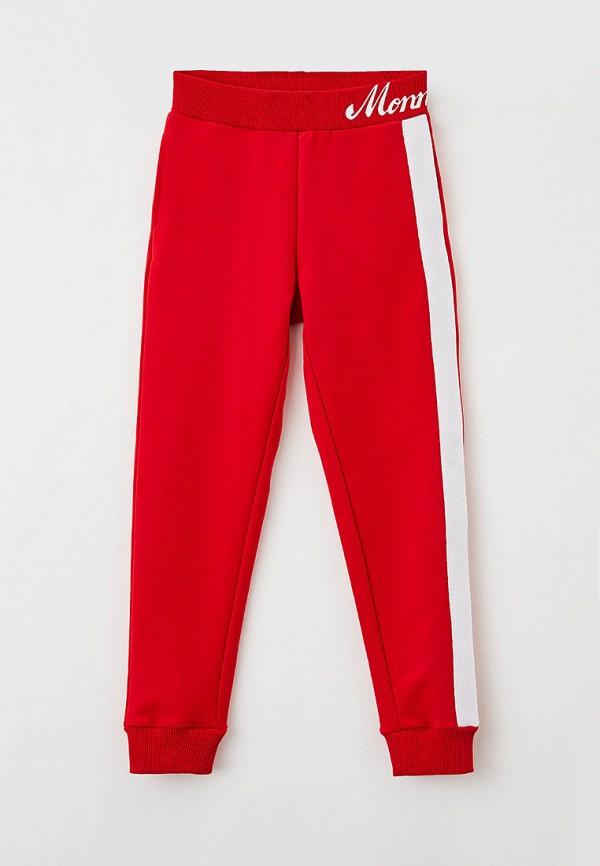 спортивные брюки monnalisa для девочки, красные
