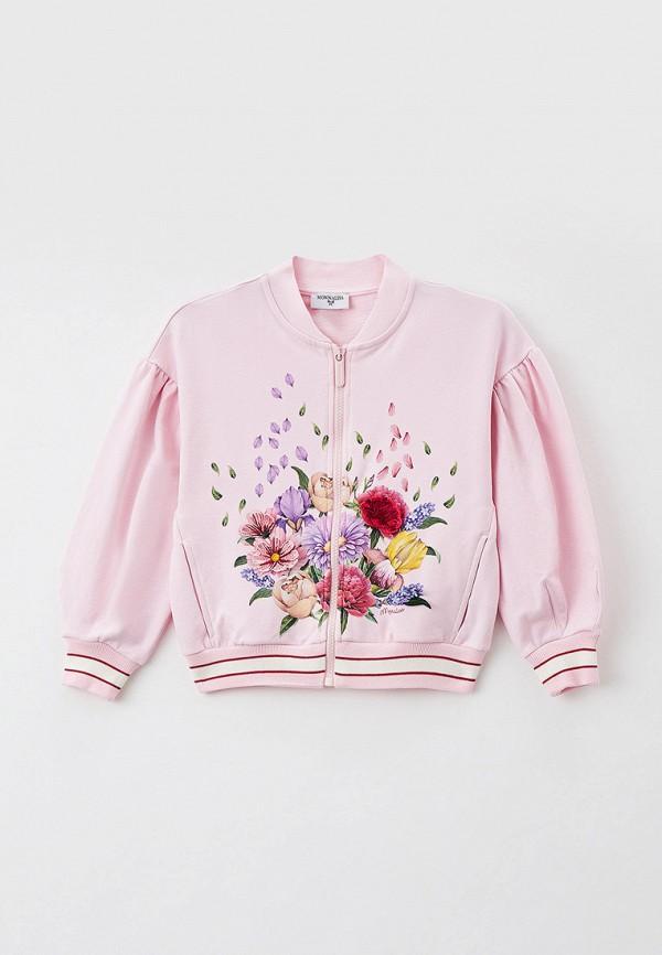 олимпийка monnalisa для девочки, розовая