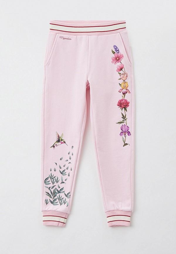 спортивные брюки monnalisa для девочки, розовые