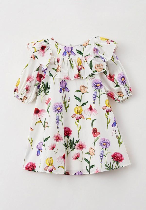 нарядные платье monnalisa для девочки, белое