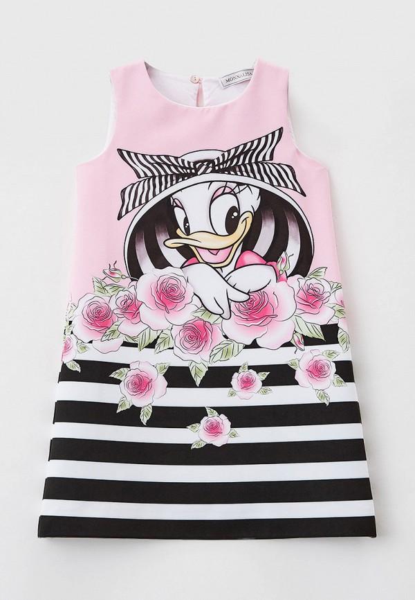 повседневные платье monnalisa для девочки, розовое