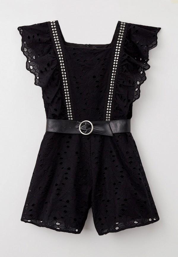 комбинезон с брюками monnalisa для девочки, черный