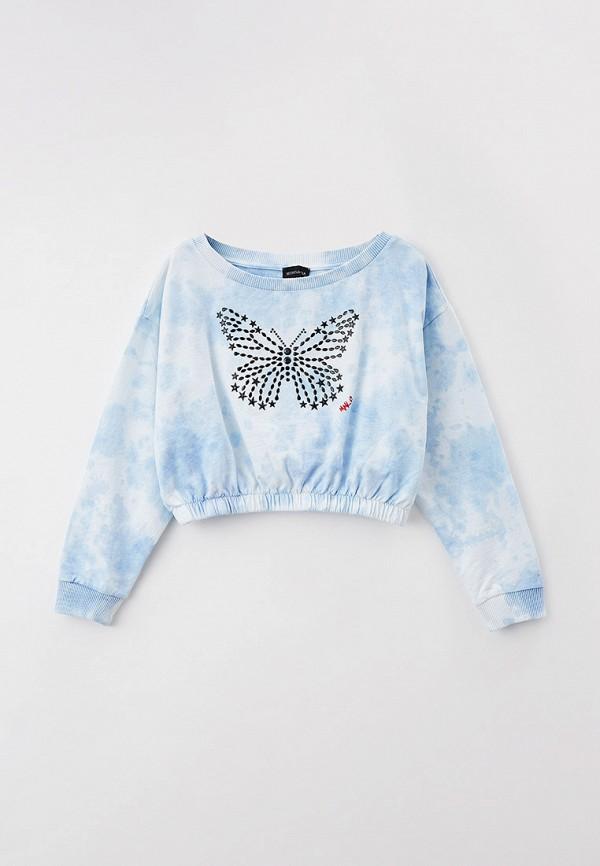 свитшот monnalisa для девочки, голубой