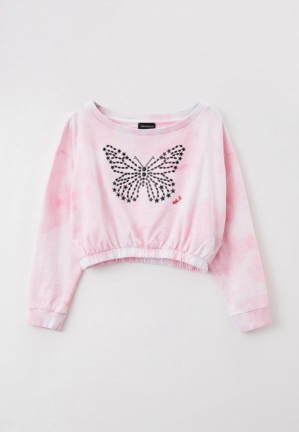 свитшот monnalisa для девочки, розовый