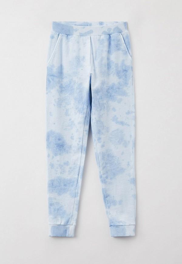 спортивные брюки monnalisa для девочки, голубые