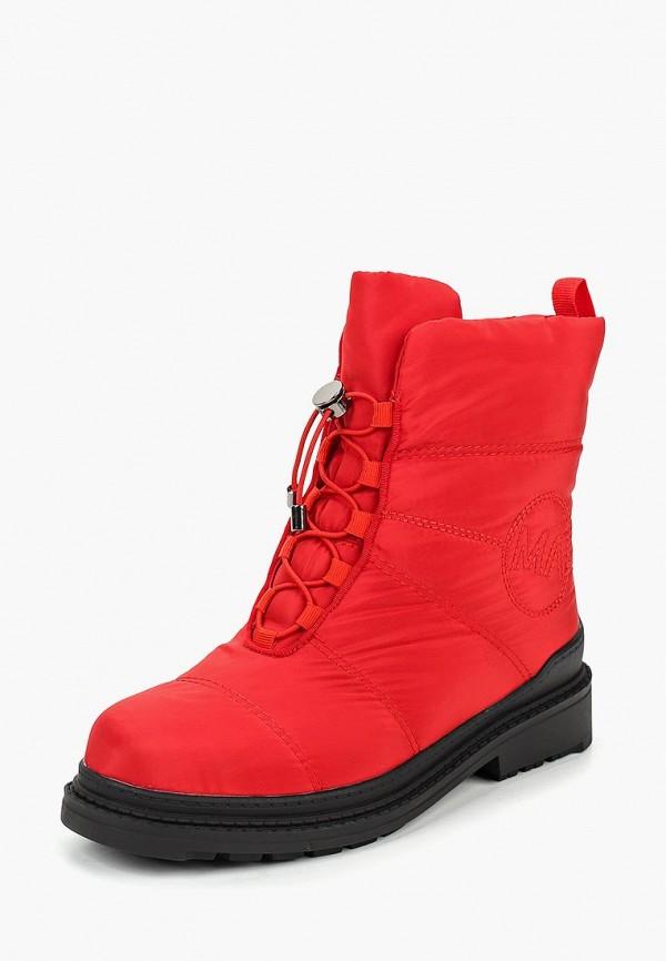 женские ботинки mon ami, красные
