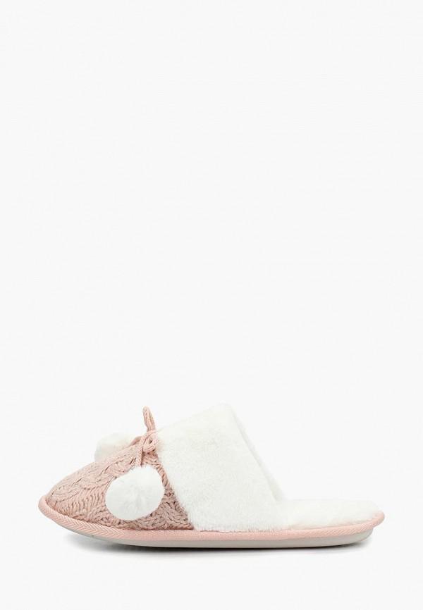 женские тапочки mon ami, розовые