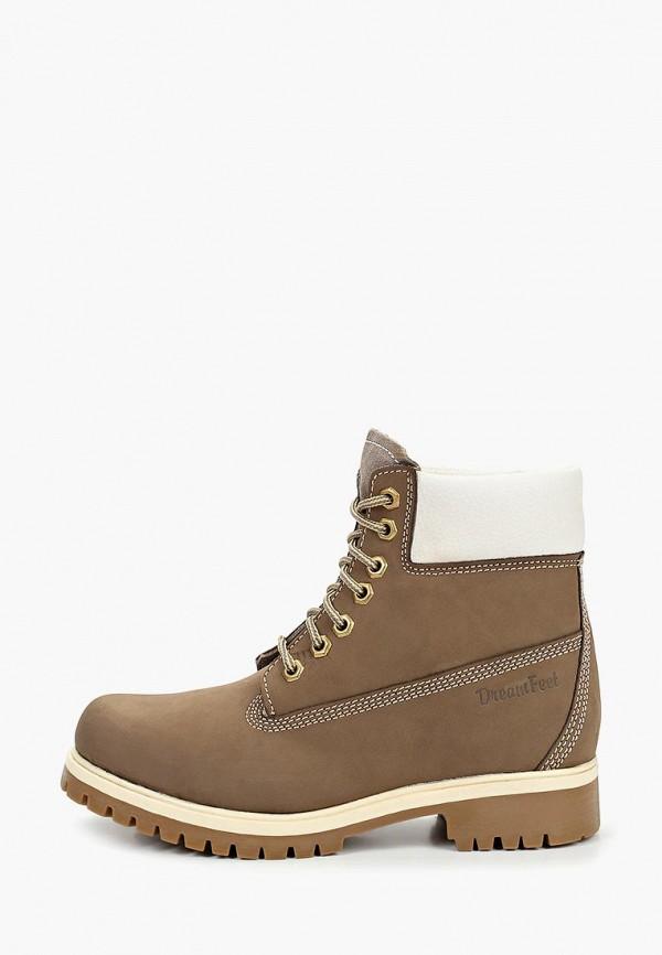 женские ботинки mon ami, серые