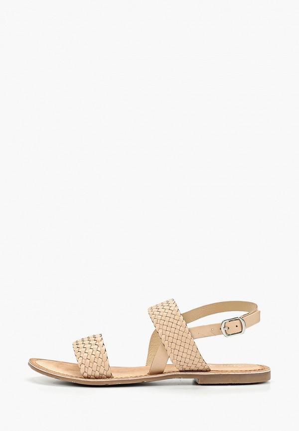 женские сандалии mon ami, бежевые