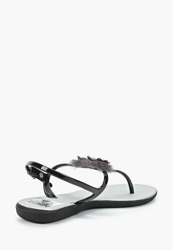 Фото 3 - женские сандали Mon Ami черного цвета