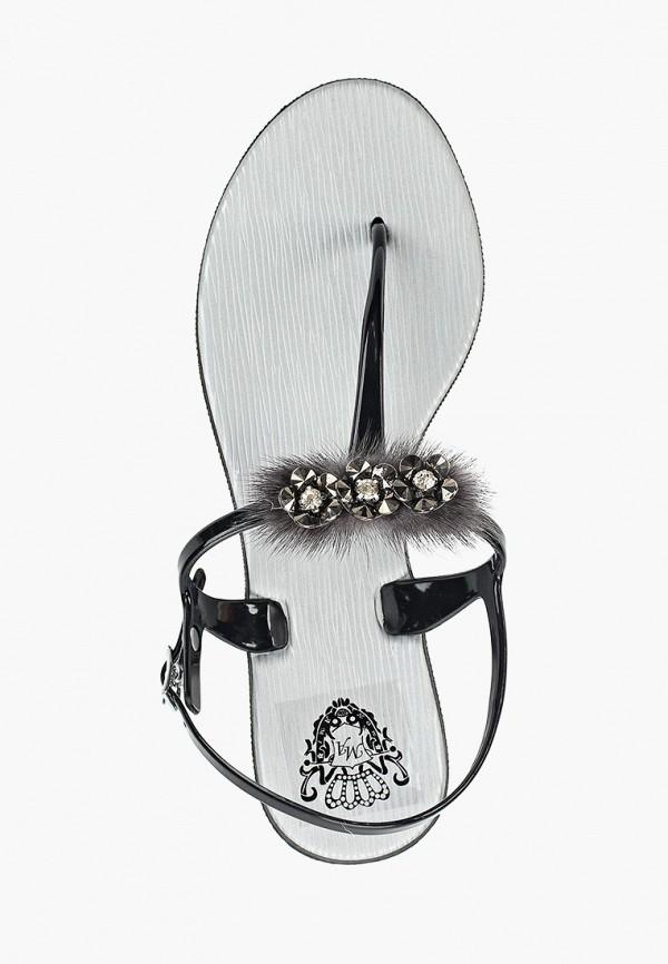 Фото 4 - женские сандали Mon Ami черного цвета