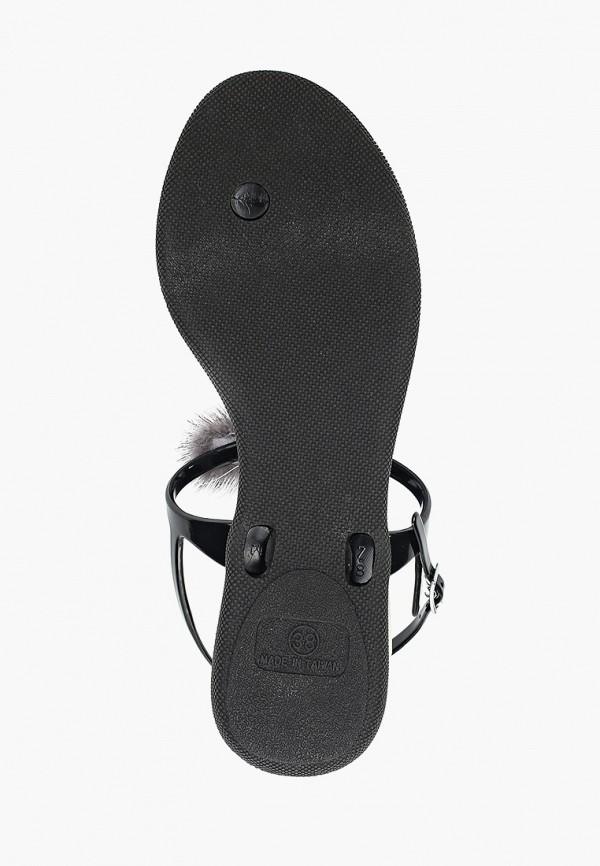 Фото 5 - женские сандали Mon Ami черного цвета