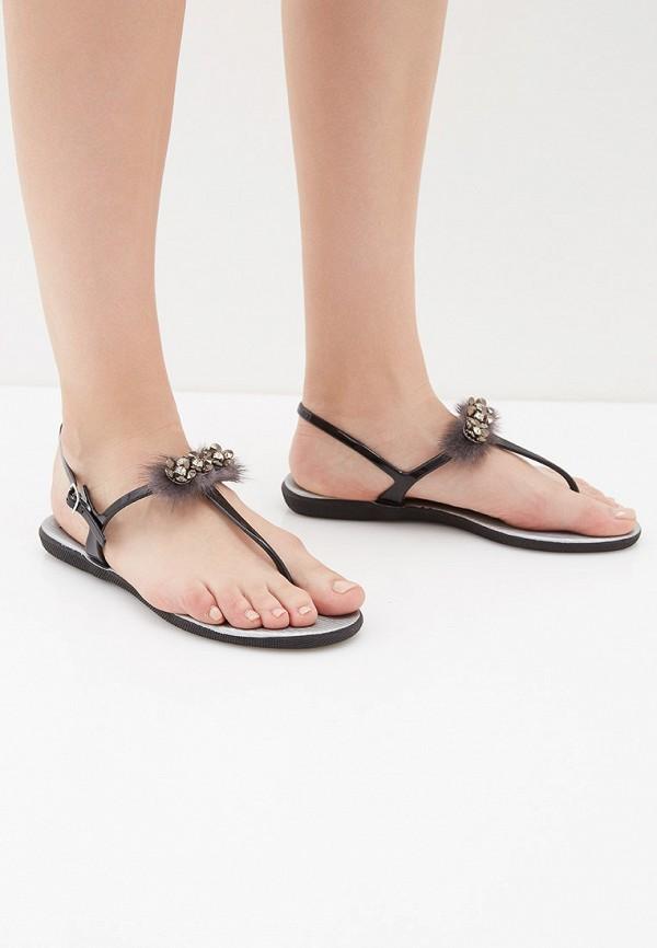 Фото 6 - женские сандали Mon Ami черного цвета