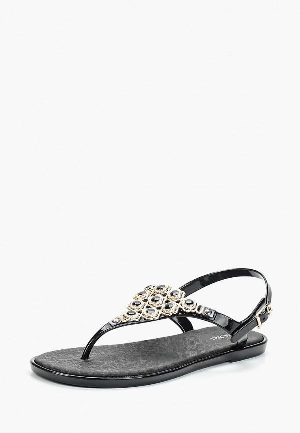 Фото 2 - женские сандали Mon Ami черного цвета