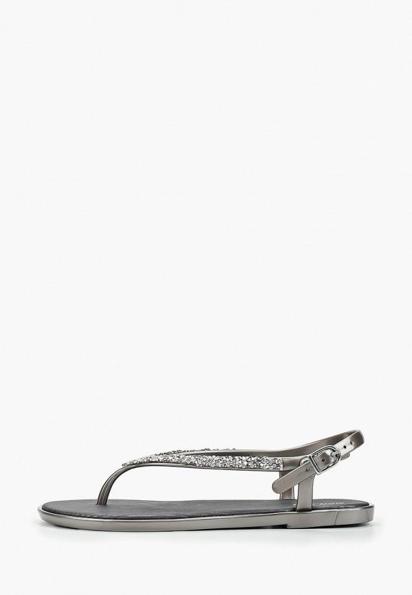 женские сандалии mon ami, серебряные