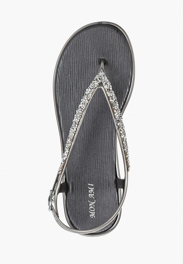 Фото 4 - женские сандали Mon Ami серебрянного цвета