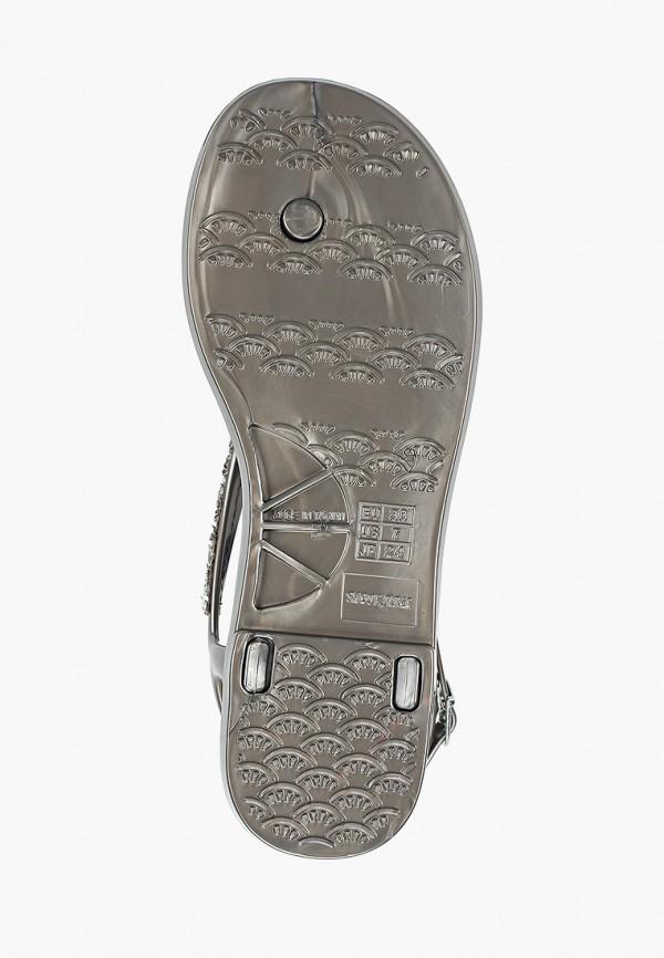 Фото 5 - женские сандали Mon Ami серебрянного цвета