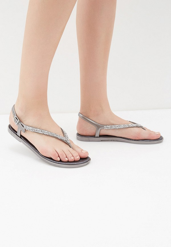 Фото 6 - женские сандали Mon Ami серебрянного цвета