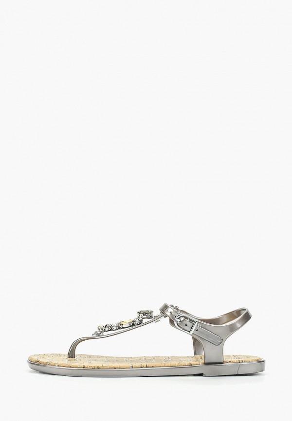 Купить женские сандали Mon Ami серебрянного цвета