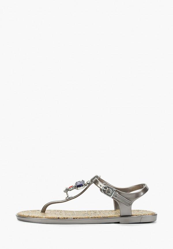 женские сандалии mon ami, серые