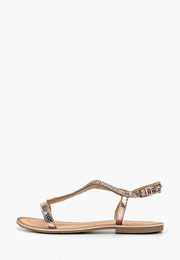 Купить женские сандали Mon Ami золотого цвета