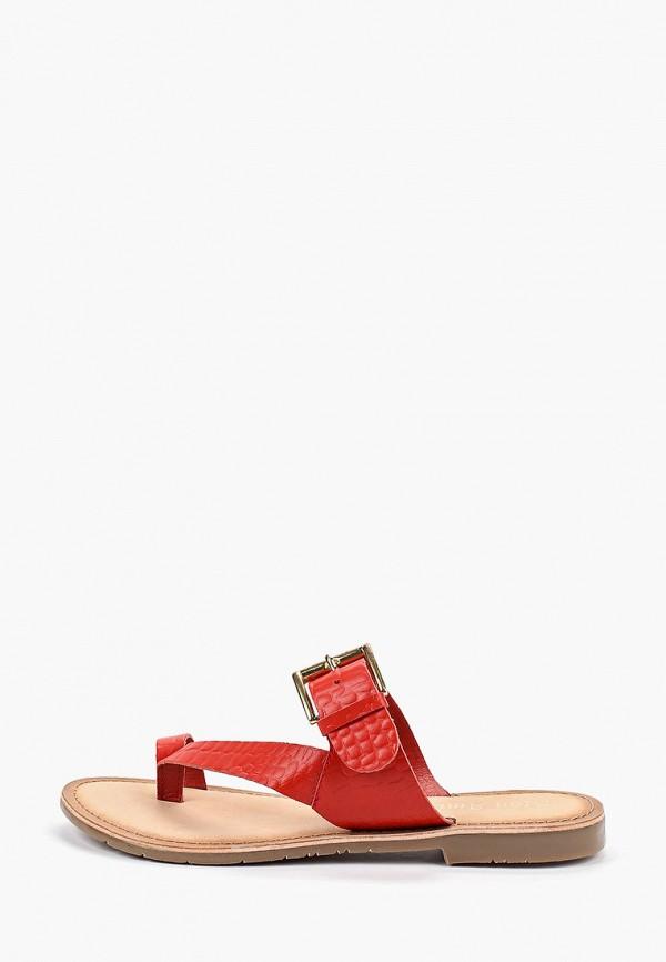 Купить женские сабо Mon Ami красного цвета
