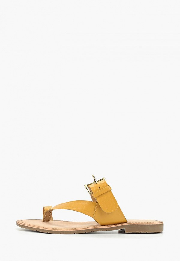 женское сабо mon ami, желтое