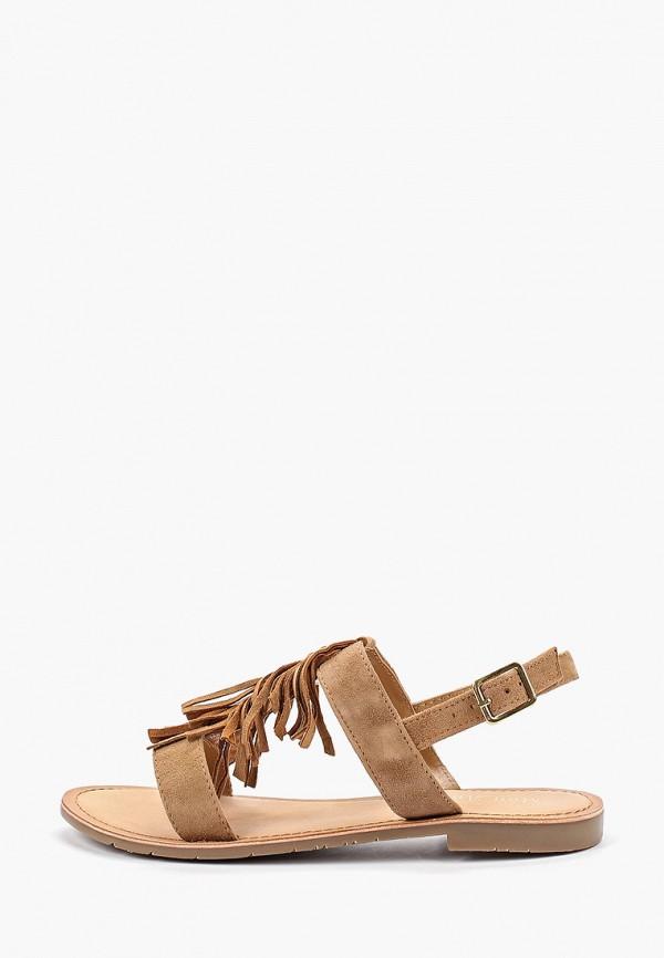женские сандалии mon ami, коричневые