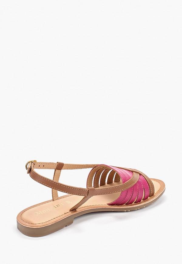 Фото 3 - женские сандали Mon Ami коричневого цвета