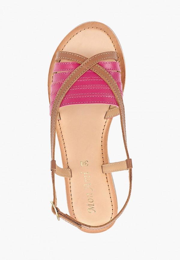 Фото 4 - женские сандали Mon Ami коричневого цвета