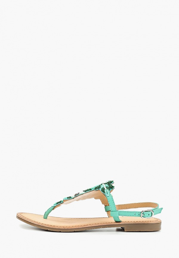 женские сандалии mon ami, зеленые