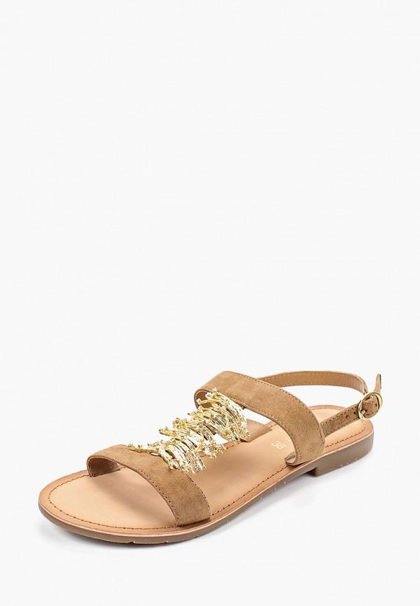 Фото 2 - женские сандали Mon Ami бежевого цвета