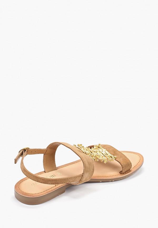 Фото 3 - женские сандали Mon Ami бежевого цвета