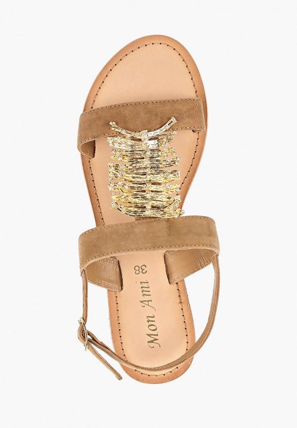 Фото 4 - женские сандали Mon Ami бежевого цвета