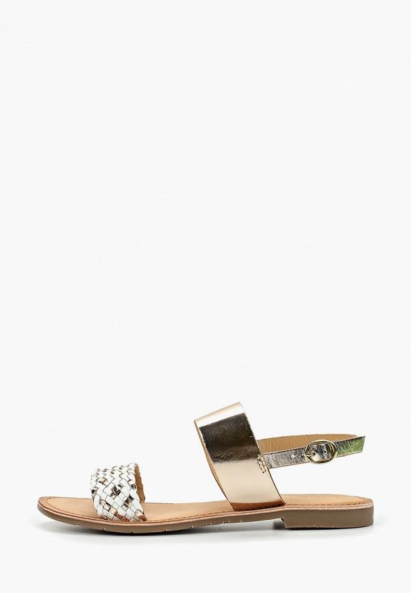 Фото - женские сандали Mon Ami золотого цвета