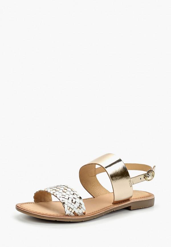 Фото 2 - женские сандали Mon Ami золотого цвета