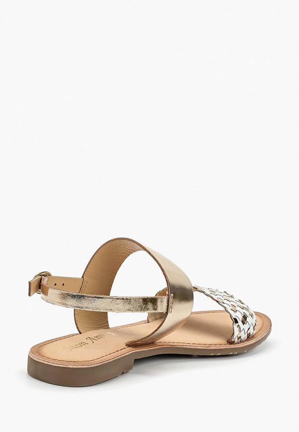 Фото 3 - женские сандали Mon Ami золотого цвета