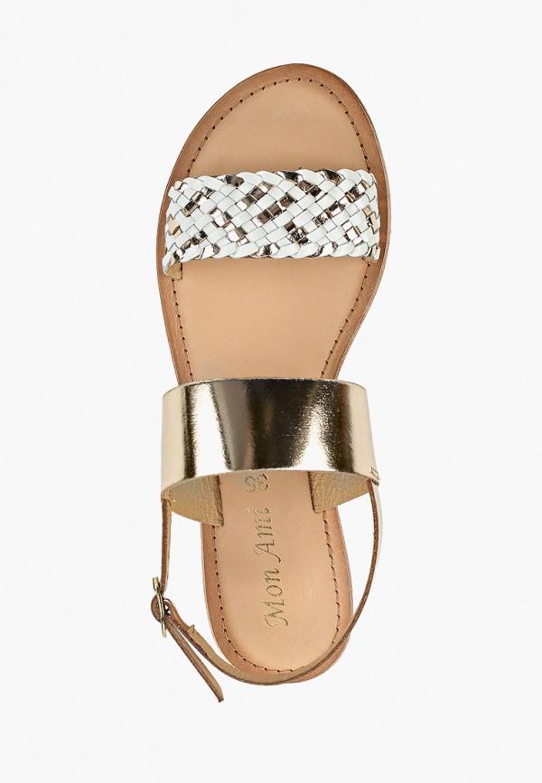Фото 4 - женские сандали Mon Ami золотого цвета
